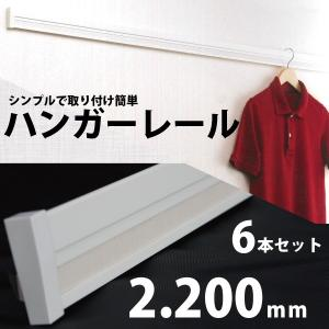 ハンガーレール(長押・なげし)2200mm×55mm×16mm【白】6本セット入《送料無料》002839|kenzai-wanipark