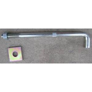 アンカーボルト座金付 基礎アンカーボルト ユニクロメッキ(13×240mm) 50本 激安価格|kenzai-yamasita