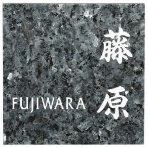 表札 戸建 天然石表札 ネームプレート スクエアタイプ ES-10-7 エクスタイル 激安表札|kenzai-yamasita