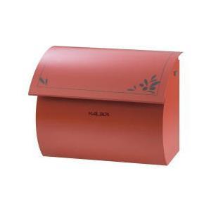 激安郵便ポスト 郵便受け Joli un(ジョリ アン) ジョリアンレッド壁掛・鍵付タイプ|kenzai-yamasita
