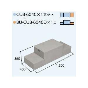 ハウスステップCUB-6040 1個 CUB-6040D 1個セット 掃き出し窓・勝手口の段差解消ステップ 送料無料 kenzai-yamasita