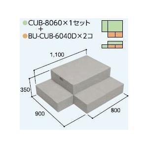 ハウスステップCUB-8060 1個 CUB-6040D 2個セット 掃き出し窓・勝手口の段差解消ステップ 送料無料 kenzai-yamasita