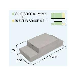ハウスステップCUB-8060 1個 CUB-8060B 1個セット 掃き出し窓・勝手口の段差解消ステップ 送料無料 kenzai-yamasita