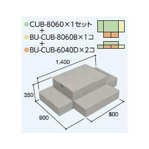 ハウスステップCUB-8060 1個 CUB-8060B 1個 CUB-6040D 2個セット 掃き出し窓・勝手口の段差解消ステップ 送料無料 kenzai-yamasita