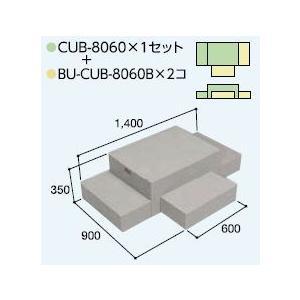 ハウスステップCUB-8060 1個 CUB-8060B 2個セット 掃き出し窓・勝手口の段差解消ステップ 送料無料 kenzai-yamasita