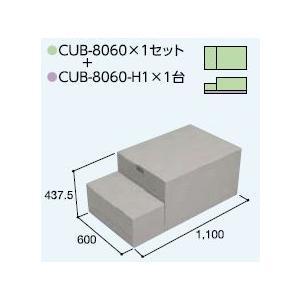ハウスステップCUB-8060 1個 CUB-8060H 1個セット 掃き出し窓・勝手口の段差解消ステップ 送料無料 kenzai-yamasita