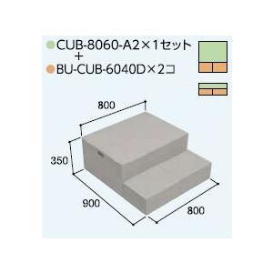 ハウスステップCUB-8060A2 1個 CUB-6040D 2個セット 掃き出し窓・勝手口の段差解消ステップ 送料無料 kenzai-yamasita