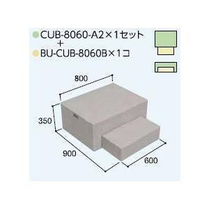 ハウスステップCUB-8060A2 1個 CUB-8060B 1個セット 掃き出し窓・勝手口の段差解消ステップ 送料無料 kenzai-yamasita
