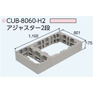 ハウスステップアジャスターCUB-8060H2(CUB-8060 CUB-8060に対応) 掃き出し窓・勝手口の段差解消ステップ 送料無料 kenzai-yamasita