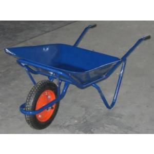 土木工事・農作業に運搬用一輪車・2才(カート車)・浅型(猫ネコねこ車)ノーパンク仕様激安特価|kenzai-yamasita