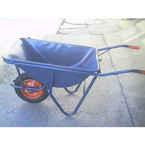 土木工事・農作業に運搬用一輪車(カート車)・3才・深型(猫ネコねこ車)ノーパンクタイヤ仕様激安特価|kenzai-yamasita