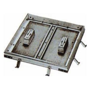 フロアーハッチ(床点検口)KAFH-500(歩道用・Pタイル・モルタル兼用)アルミニウム目地 ポイント10倍|kenzai-yamasita