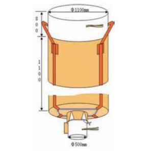 フレコンパック コンテナバック 排出口付 10個セット 激安価格 (法面保護・河川の仮堰止め・建材・残土・廃棄物の運搬に)|kenzai-yamasita