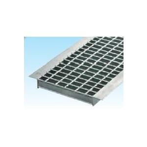 グレーチングU字側溝600mm用 形式記号 WUーX60-519 スチール製 普通目 ノンスリップ適応荷重 歩道用|kenzai-yamasita