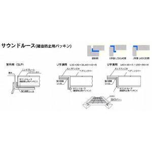 U字溝用 L40用返り有りタイプ 騒音防止用パッキン(サウンドルース)2本セット kenzai-yamasita