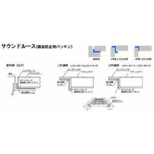 U字溝用 L40用返り有りタイプ 騒音防止用パッキン(サウンドルース)2本セット ポイント10倍 kenzai-yamasita