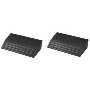 駐車場・ガレージの段差解消スロープ 高さ15cm用ロードアップG 6015(2個セット) 600×330×H145mm送料無料|kenzai-yamasita