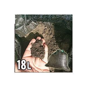 グランド用黒土 鹿児島県薩摩の黒土 18L 土のう袋入り 砂 野球|kenzai-yamasita
