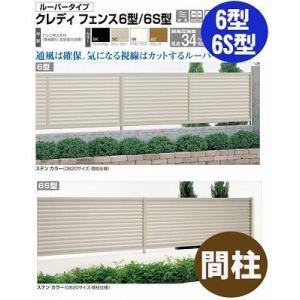 フェンス【四国化成】 クレディフェンス6型、6S型(間柱 コーナーカバー柱S)60CCPS-08|kenzai-yamasita