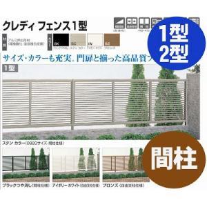 フェンス【四国化成】 クレディフェンス1型、2型(間柱仕様 端柱)60EP-08|kenzai-yamasita