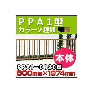 フェンス PPA1型本体(傾斜地共用)PPA1-0820 H800mm×W1,974mm 四国化成 kenzai-yamasita