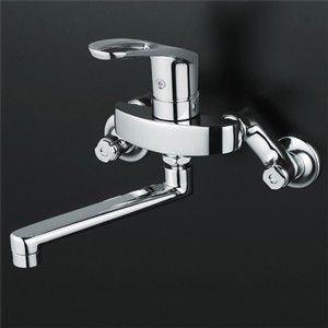 KVK キッチン用水栓 壁付きシングルレバー式混合栓 KM5000T 一般地用|kenzaijuusetsumarket