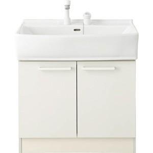 ノーリツ 洗面化粧台 シャンピーヌ ベースキャビネット LSAB-70DWN1B 2バルブ混合水栓 間口750mm 一般地用 LSAB-70D|kenzaijuusetsumarket