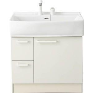 ノーリツ 洗面化粧台 シャンピーヌ LSAB-71AWN1B ベースキャビネット LSAB-71AWN1B シングルレバーシャワー水栓(ホワイト) 間口750mm 一般地用|kenzaijuusetsumarket