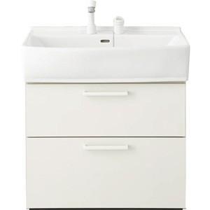 ノーリツ 洗面化粧台 シャンピーヌ LSAB-74APNHQ ベースキャビネット シングルレバーシャワー水栓(ホワイト) 間口750mm 一般地用|kenzaijuusetsumarket