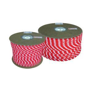 ユタカメイク アクリルカラーロープ ドラム巻き 紅白 12MMX100M RZ−65|kenzaisyounin