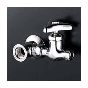 ○特長○呼び径13の分岐水栓。三角ハンドル仕様。○用途○湯沸かし器に水を引く時などに使用。ユニオンナ...