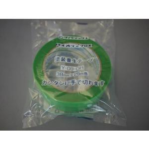 パイオラン塗装養生テープ 38mmX25M Y−09GR|kenzaisyounin