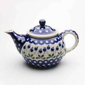 ティーポット・大[C264-377O]【ポーリッシュポタリー[ポーランド食器・陶器]】|kersen