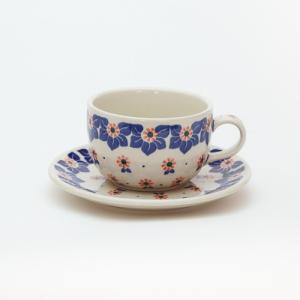 カップ&ソーサー[C768-1003]【ポーリッシュポタリー[ポーランド食器・陶器]】 kersen