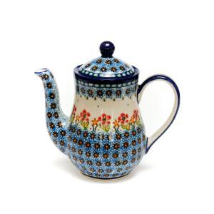 ポット0.7L[K106-DU059]【ポーリッシュポタリー[ポーランド食器・陶器]】|kersen
