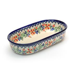 オーブン皿・オーバル・小[M1101-B28]【ポーリッシュポタリー[ポーランド食器・陶器]】|kersen