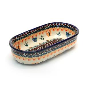 オーブン皿・オーバル・小[M1101-B81]【ポーリッシュポタリー[ポーランド食器・陶器]】|kersen