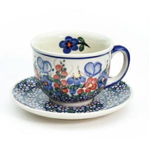 カップ&ソーサー[V033-A001]【ポーリッシュポタリー[ポーランド食器・陶器]】|kersen