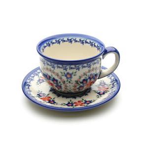 カップ&ソーサー[V033-A063]【ポーリッシュポタリー[ポーランド食器・陶器]】 kersen