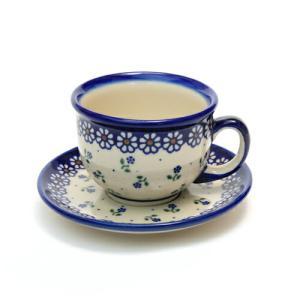 カップ&ソーサー[V033-C022]【ポーリッシュポタリー[ポーランド食器・陶器]】 kersen
