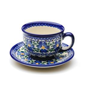 カップ&ソーサー[V033-U019]【ポーリッシュポタリー[ポーランド食器・陶器]】 kersen