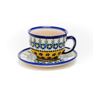 カップ&ソーサー[V033-U198]【ポーリッシュポタリー[ポーランド食器・陶器]】 kersen