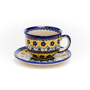 カップ&ソーサー[V033-U199]【ポーリッシュポタリー[ポーランド食器・陶器]】|kersen