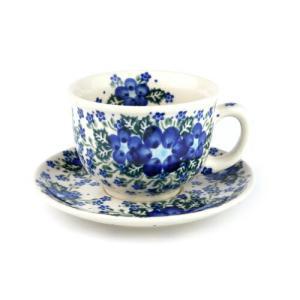 カップ&ソーサー[V033-U420]【ポーリッシュポタリー[ポーランド食器・陶器]】 kersen