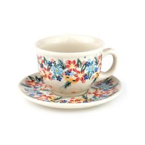 カップ&ソーサー[V033-U422]【ポーリッシュポタリー[ポーランド食器・陶器]】 kersen