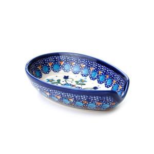 スプーンレスト[V089-U006]【ポーリッシュポタリー[ポーランド食器・陶器]】|kersen