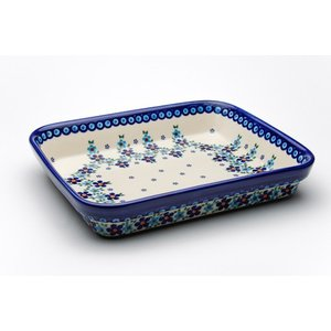 オーブン皿(グラタン皿)・スクエア・大[V149-B203]【ポーリッシュポタリー[ポーランド食器・陶器]】|kersen