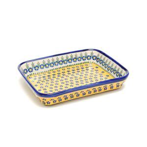 オーブン皿(グラタン皿)・スクエア・大[V149-U198]【ポーリッシュポタリー[ポーランド食器・陶器]】|kersen