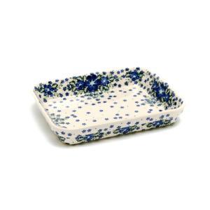オーブン皿(グラタン皿)・スクエア・大[V149-U420]【ポーリッシュポタリー[ポーランド食器・陶器]】|kersen