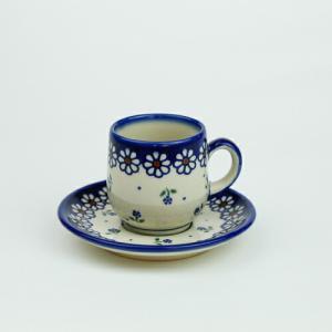 エスプレッソカップ&ソーサー[V222-C022]【ポーリッシュポタリー[ポーランド食器・陶器]】|kersen